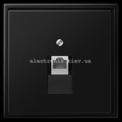 Розетка компьютерная RG 45 JUNG LS990 черный матовый