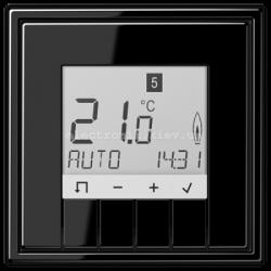 Терморегулятор теплого пола электронный JUNG LS990 черный глянец