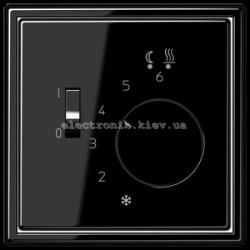 Терморегулятор теплого пола механичемкий JUNG LS990 черный глянец
