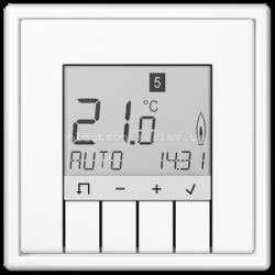 Терморегулятор теплого пола электронный JUNG LS990 белый