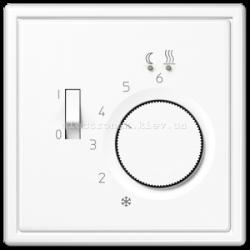 Терморегулятор теплого пола механический JUNG LS990 белый