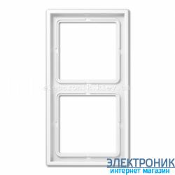 Рамка двухместная JUNG LS990 белый