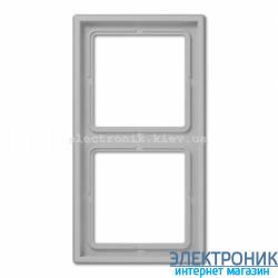 Рамка двухместная JUNG LS990 светло-серый