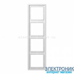 Рамка четырехместная JUNG LS990 белый