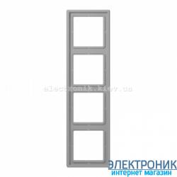 Рамка четырехместная JUNG LS990 светло-серый