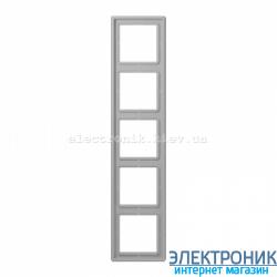 Рамка пятиместная JUNG LS990 светло-серый