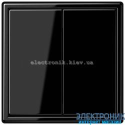 Выключатель двухклавишный проходной JUNG LS990 черный