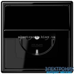 Розетка с крышкой JUNG LS990 черный