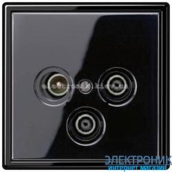 Розетка TV/R+SAT JUNG LS990 черный