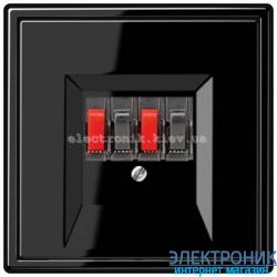 Розетка аудио двойная JUNG LS990 черный