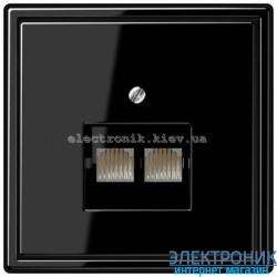 Розетка компьютерная двойная RG 45 JUNG LS990 черный