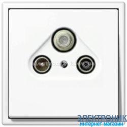Розетка TV/R+SAT JUNG LS990 белый