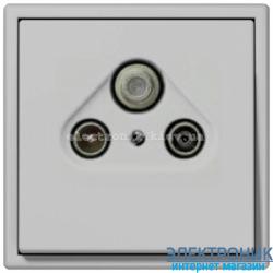 Розетка TV/R+SAT JUNG LS990 светло-серый