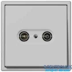 Розетка TV конечная JUNG LS990 светло-серый