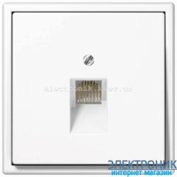 Розетка компьютерная RG 45 JUNG LS990 белый