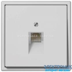 Розетка компьютерная RG 45 JUNG LS990 светло-серый