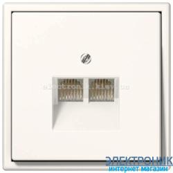 Розетка компьютерная  RG 45 двойная JUNG LS990 крем