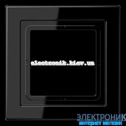 Рамка 1-ая LS990 Design черный пластик