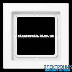 Рамка 1-ая LS990 Design белый пластик