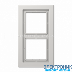 Рамка 2-ая LS990 Design светло-серый пластик