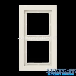 Рамка 2-ая LS990 Design крем пластик