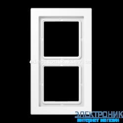 Рамка 2-ая LS990 Design белый пластик