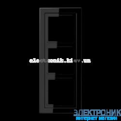 Рамка 3-ая LS990 Design черный пластик