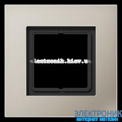 Рамка 1-ая LS PLUS нержавеющая сталь металл