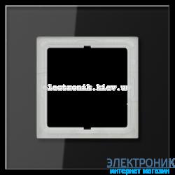 Рамка 1-ая LS PLUS Черное стекло