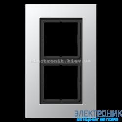 Рамка 2-ая LS PLUS алюминий металл