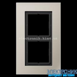 Рамка 2-ая LS PLUS нержавеющая сталь металл