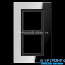 Рамка 2-ая LS PLUS хром металл