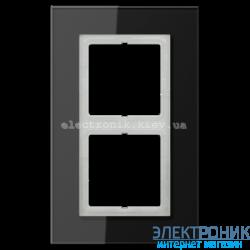 Рамка 2-ая LS PLUS Черное стекло