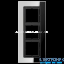 Рамка 3-ая LS PLUS хром металл