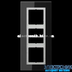 Рамка 3-ая LS PLUS Черное стекло