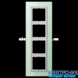 Рамка 4-ая LS PLUS Салатовое стекло