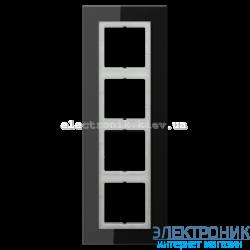 Рамка 4-ая LS PLUS Черное стекло