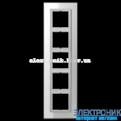 Рамка 5-ая LS PLUS Белое стекло
