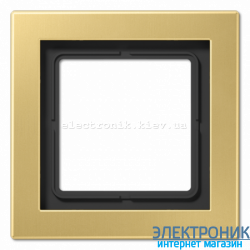 Рамка 1-ая LS990 Design классическая латунь металл