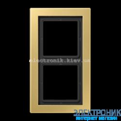 Рамка 2-ая LS990 Design классическая латунь металл