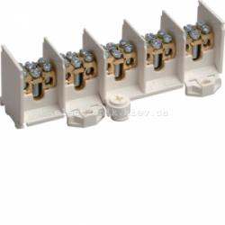 Клеммник вводно/распределительный 5-полюсов, 80А на полюс, 25мм2 Hager
