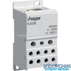 Распределительный блок 1-пол, 400A, Hager KJ02B
