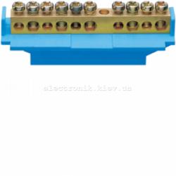 Клемма нейтральная с держателем 5x16+5x10мм2 Hager