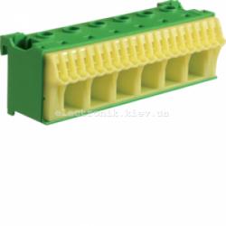 Блок PE-клемм, количество единиц деления - 3,5 ширина — 105мм Hager