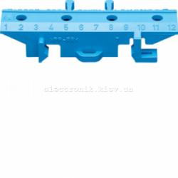 Пластиковий кронштейн на TS-шину для клем, синий Hager