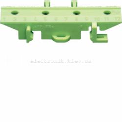 Пластиковий кронштейн на TS-шину для клем, желто-зеленый Hager