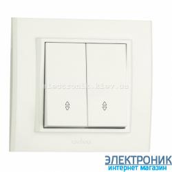 Выключатель MINA 2-й проходной белый OVIVO
