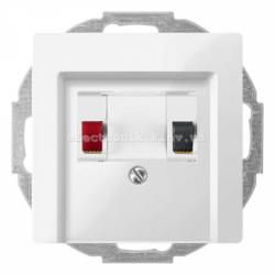 Аудио розетка одинарная Schneider Electric Merten System M полярно-белый