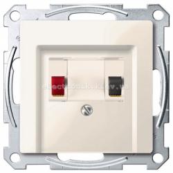 Аудио розетка одинарная Schneider Electric Merten System M бежевый