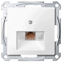 Розетка компьютерная RJ45 1-ная UTP Schneider Electric Merten System M активно-белый